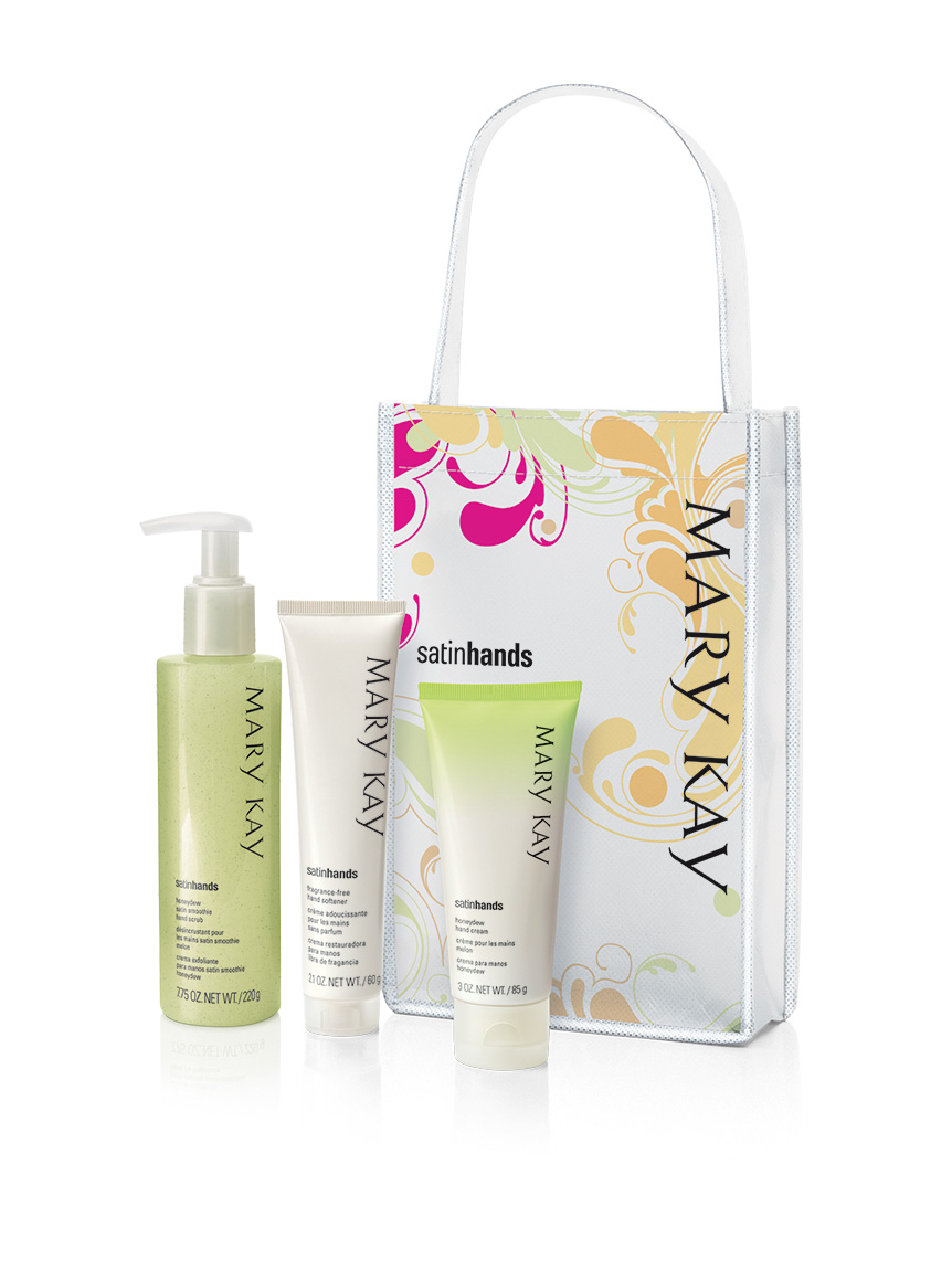 Honeydew Satin Hands Pampering Set Mary Kay